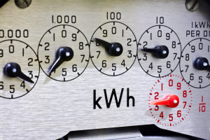electric meter spinning backwards showing solar payback